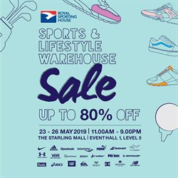 Offers from Royal Sporting House in the Kuala Lumpur leaflet