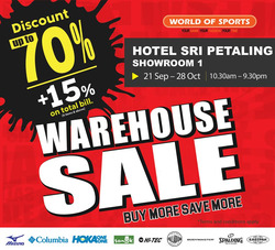 Offers from World of Sports in the Kuala Lumpur leaflet
