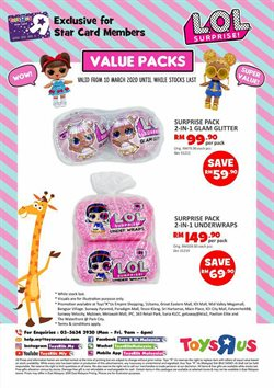 Kids, Toys & Babies offers in the Toys R Us catalogue in Kuala Lumpur ( Expires today )