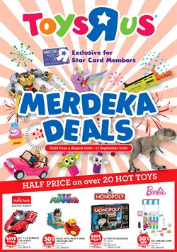 Kids, Toys & Babies offers in the Toys R Us catalogue in Penang ( More than a month )