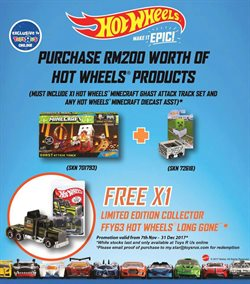 Offers from Toys R Us in the Kuala Lumpur leaflet