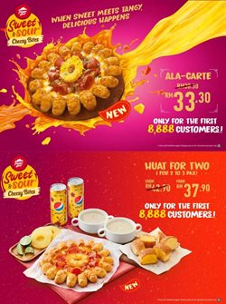 Offers from Pizza Hut in the Johor Bahru leaflet