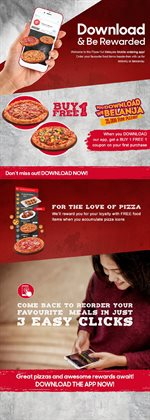 Restaurants offers in the Pizza Hut catalogue in Kuala Lumpur