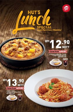 Offers from Pizza Hut in the Kuala Lumpur leaflet