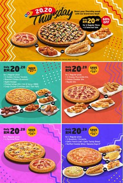 Offers from Domino's Pizza in the Johor Bahru leaflet
