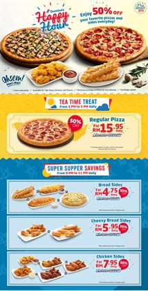 Restaurants offers in the Domino's Pizza catalogue in Petaling Jaya