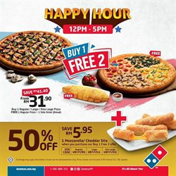 Restaurants offers in the Domino's Pizza catalogue in Ipoh ( 27 days left )