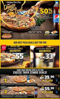 Restaurants offers in the Domino's Pizza catalogue in Johor Bahru