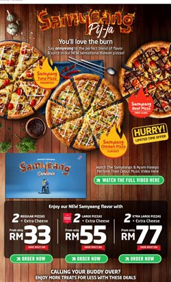 Restaurants offers in the Domino's Pizza catalogue in Kuala Lumpur