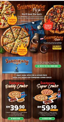 Offers from Domino's Pizza in the Klang leaflet