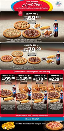 Restaurants offers in the Domino's Pizza catalogue in Seremban