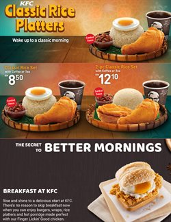 Restaurants offers in the KFC catalogue in Kuala Lumpur