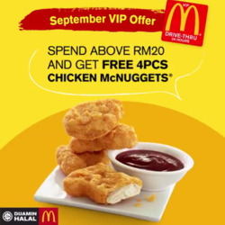 Offers from McDonald's in the Kuala Lumpur leaflet