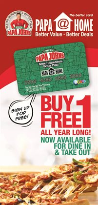 Restaurants offers in the Papa Johns catalogue in Kuala Lumpur