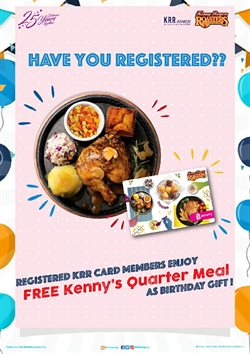 Kenny Rogers Roaster catalogue in Penang ( 18 days left )