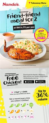 Restaurants offers in the Nando's catalogue in Johor Bahru ( 1 day ago )