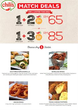 Chili's offers in Chili's catalogue ( More than a month)