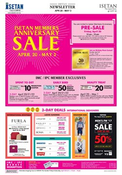 Offers from Isetan in the Kuala Lumpur leaflet