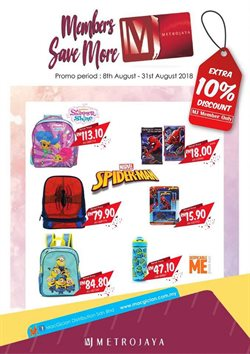 Department Stores offers in the Metrojaya catalogue in Johor Bahru