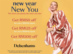 Offers from Debenhams in the Kuala Lumpur leaflet