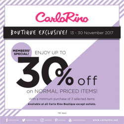 Offers from Carlo Rino in the Kuala Lumpur leaflet
