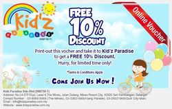 Offers from Kidz Paradise in the Klang leaflet