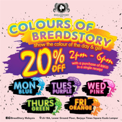 Offers from Bread Story in the Kuala Lumpur leaflet