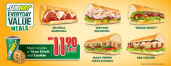 Offers from Subway in the Kuala Lumpur leaflet