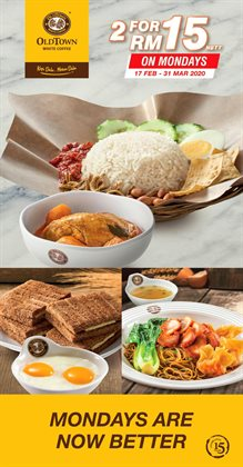 Restaurants offers in the Oldtown White Coffee catalogue ( Expires tomorrow )