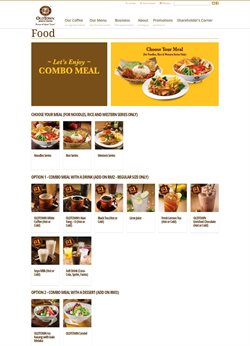 Offers from Oldtown White Coffee in the Kuala Lumpur leaflet