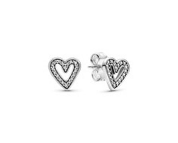 Sparkling Freehand Heart Stud Earrings offers at RM 229