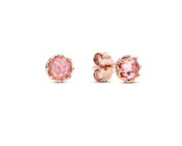 Pink Sparkling Crown Stud Earrings offers at RM 289