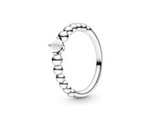 Milky White Beaded Ring offers at RM 219