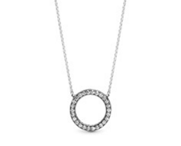 PANDORA logo reversible collier with clear cubic zirconia offers at RM 451
