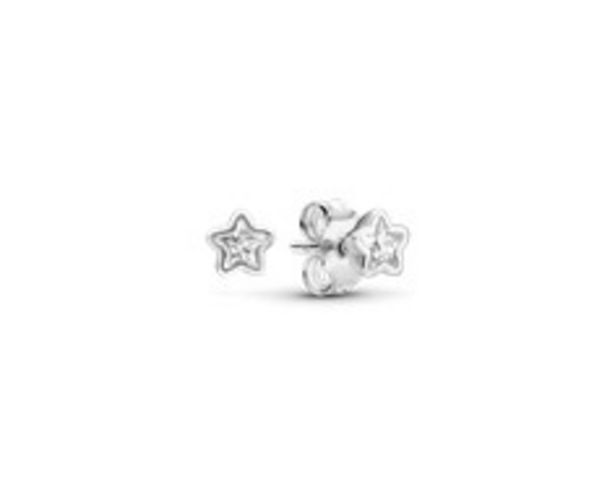 Star silver stud earrings with clear cubic zirconia offers at RM 131