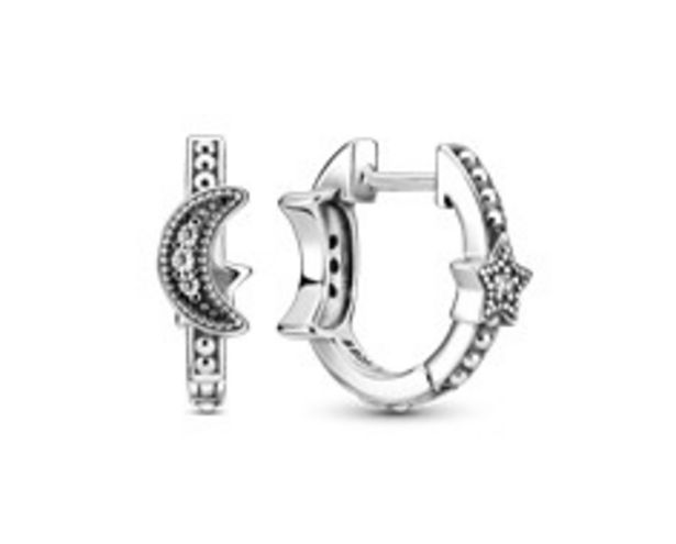 Crescent Moon & Stars Beaded Hoop Earrings offers at RM 289
