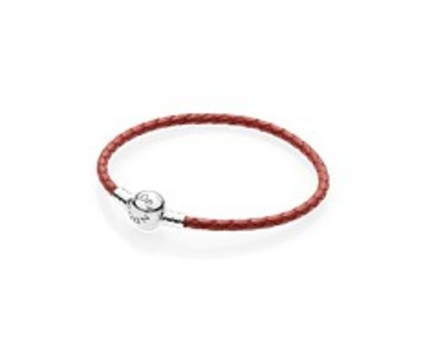 Moments Single Woven Leather Bracelet, Red offers at RM 216