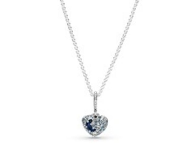 Sparkling Blue Moon & Stars Heart Necklace offers at RM 479