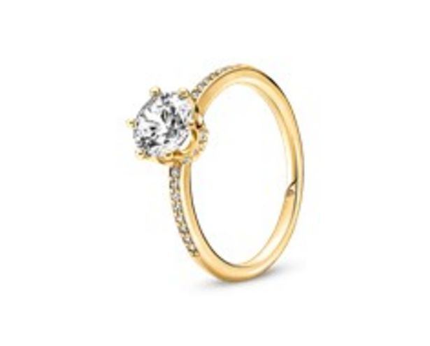 Clear Sparkling Crown Solitaire Ring offers at RM 419