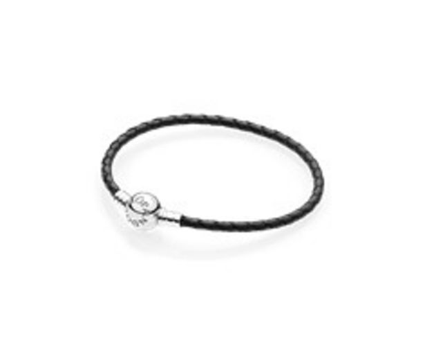 Moments Single Woven Leather Bracelet, Black offers at RM 216