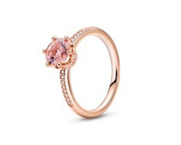 Pink Sparkling Crown Solitaire Ring offers at RM 379