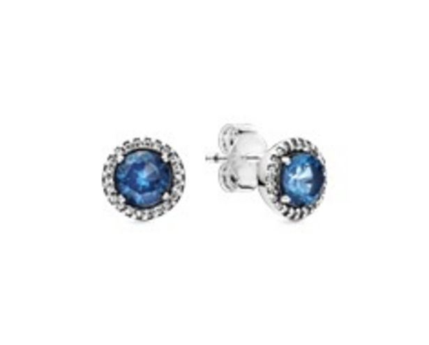 Blue Round Sparkle Stud Earrings offers at RM 329