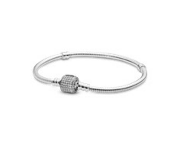 Silver bracelet with clear cubic zirconia offers at RM 395