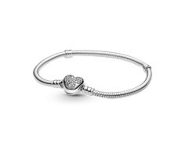 Disney Pandora Moments Mickey Mouse Heart Clasp Snake Chain Bracelet offers at RM 479