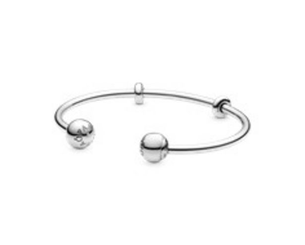 Moments Silver Open Bangle, PANDORA Logo Caps offers at RM 357