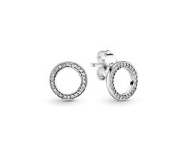 Sparkling Circle Stud Earrings offers at RM 216