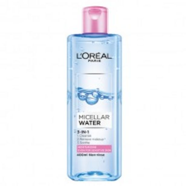 3-IN-1 MICELLAR WATER (MOISTURIZING) 400ML offers at RM 39.9