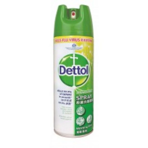 DETTOL DISINFECTANT SPRAY (MORNING DEW) 450ML offers at RM 24.4