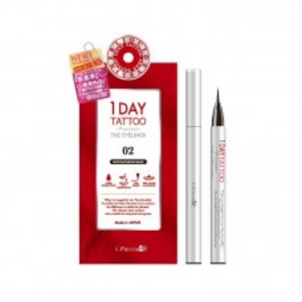 1DAY TATTOO PROCAST THE EYELINER (02 CHOCOLATE BROWN BLACK) 28G offers at RM 69.9