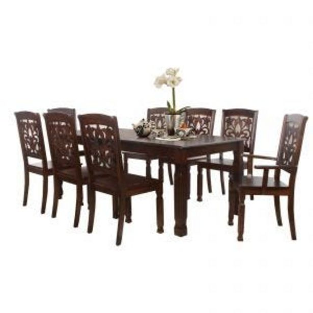 FATHIA 8 SEATER DINING SET SOLID WOOD offers at RM 1999
